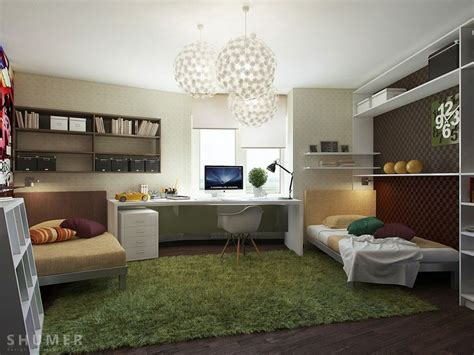 Glamorous Study Areas by Study Room Cool Bedroom Study With Grass Green