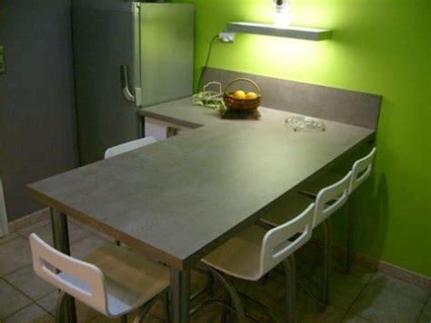 ilot de cuisine avec table ambiance cuisine meubles contarin