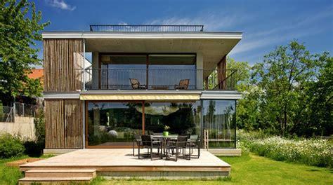 maison moderne avec toit constructeur maison contemporaine toit plat avec pasio