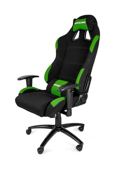 chaise de bureau recaro akracing gaming chair black green ak k7012 bg