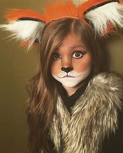 Cute and easy little girl fox Halloween makeup | makeup ...