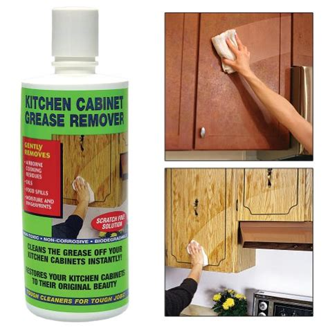 what cleans grease kitchen cabinets kitchen cabinet degreaser cleans grease removes residue 9616