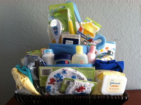 Boy Gift Basket From Grandma For Baby Shower (unwrapped