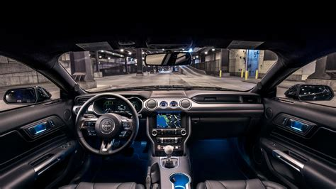 wallpaper ford mustang bullitt  cars interior