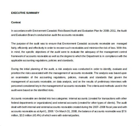 18 audit report templates free sle exle