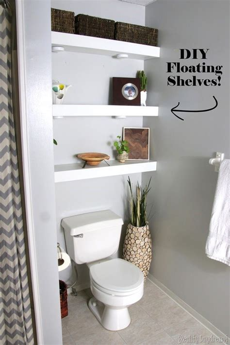 bathroom built in storage ideas how to build diy floating shelves day