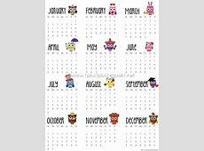 2016 Printable Owl Calendars 1+1+1=1