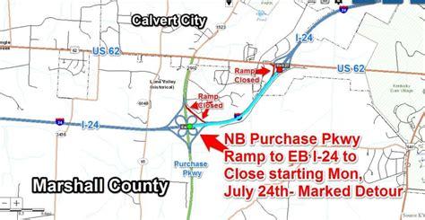 ramp closure purchase pkwy exit interchange work zone