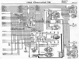 Wiring Diagrams Of 1962 Chevrolet V8 Biscayne  Belair  And Impala