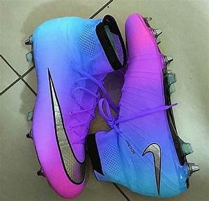 Shoes: nike, purple and blue, soccer cleats, blouse, blue ...