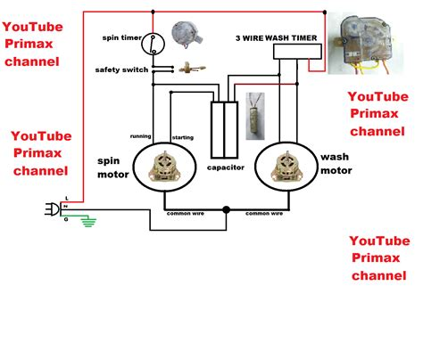 wiring diagram of washing machine timer circuit and