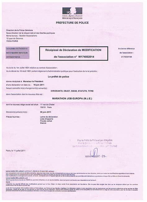 d laration changement bureau association declaration bureau association prefecture 28 images le