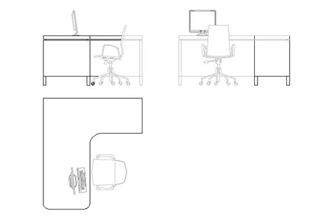 bureau dwg bloques cad autocad arquitectura 2d 3d dwg