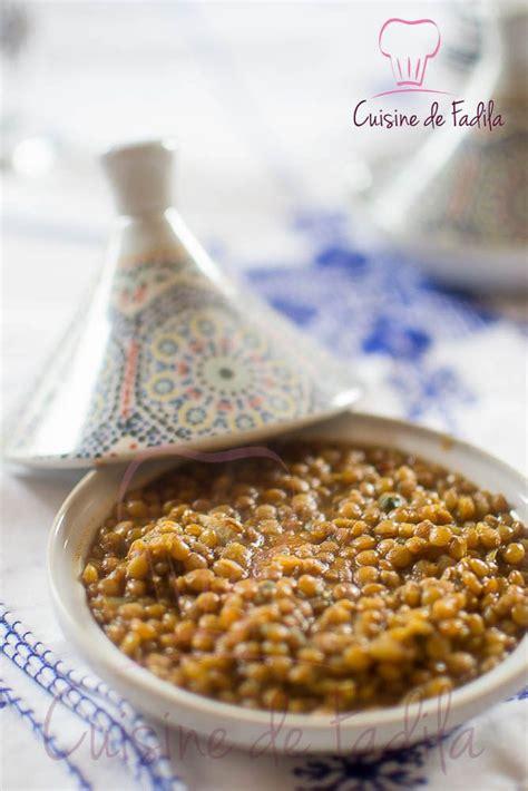 cuisine marocaine en lentilles à la marocaine recette en vidéo tajine