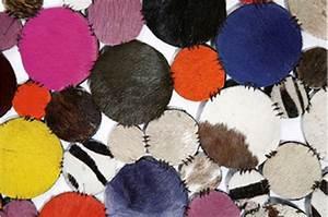 Tapis Rond Design : tapis rond design en cuir multicolor 150x150 tapis design pas cher ~ Teatrodelosmanantiales.com Idées de Décoration