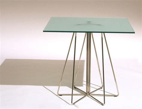 glass table top clips paperclip table knoll