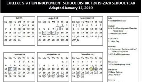 college station school board approves calendar