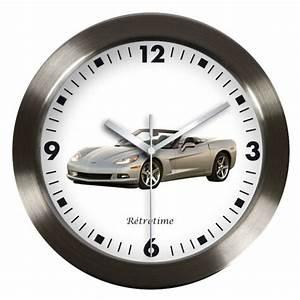 Horloge Murale Grise : pendule voiture de collection corvette pendule automobile ancienne retrotime ~ Teatrodelosmanantiales.com Idées de Décoration