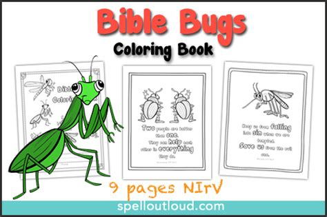 bible bugs scripture coloring pages spell  loud