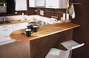 Plan De Travail Cuisine En Bois : plan de travail en bois choix et entretien c t maison ~ Melissatoandfro.com Idées de Décoration