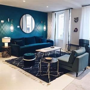 dossier deco bien choisir son canape sarah lavoine With tapis de course avec canapé cuir bleu canard