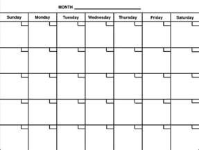 blank calendar print out calendar picture templates