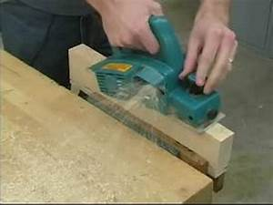 How to Use a Power Planer : Planing Operation for a Power