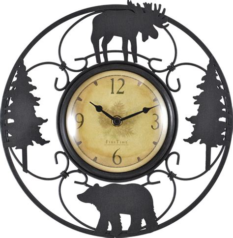 uttermost wall sconces wildlife wire clock rustic wall clocks by firstime