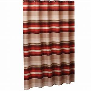 Brown and red shower curtain curtain menzilperdenet for Red show curtains