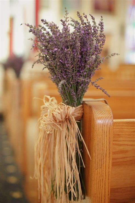 Lavender Flowers Chair Decor Rustic Wedding Ideas Church