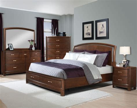 contemporary bedroom with wood bed search