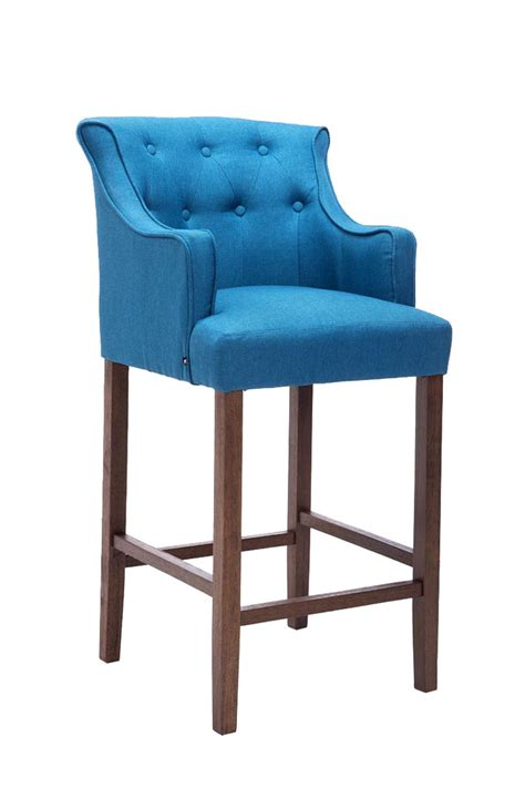 Armchair With Stool by Bar Stool Lykso Tweed Fabric Breakfast Kitchen Barstools