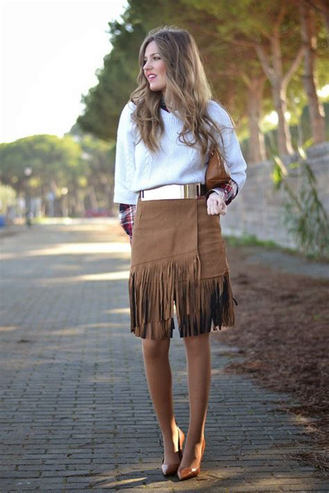 trendy suded fringe outfits  fall pretty designs