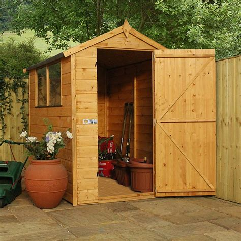Tongue And Groove Boards For Sheds by 6 X 4 Waltons Tradesman Tongue And Groove Apex Wooden Shed