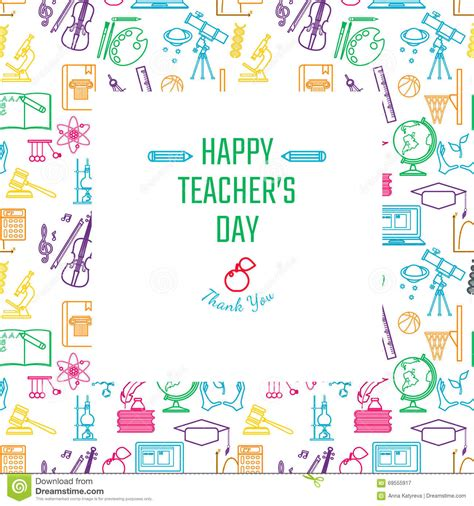 teachers day holidays stock vector illustration