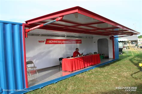 portable sheds schweiss hydraulic container doors schweiss must see photos
