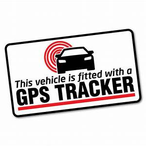 GPS Tracker Fitted Warning Sticker Decal Safety Sign Car ...