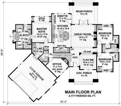 craftsman house plan   bedrooms   baths plan