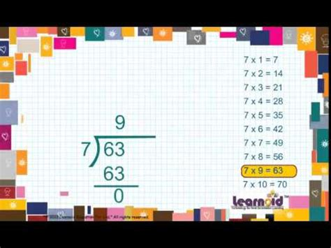 class  long division youtube
