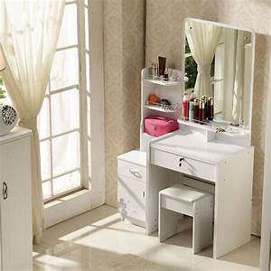 Modern Dressing Table With Stool And Mirror - Cbaarch com
