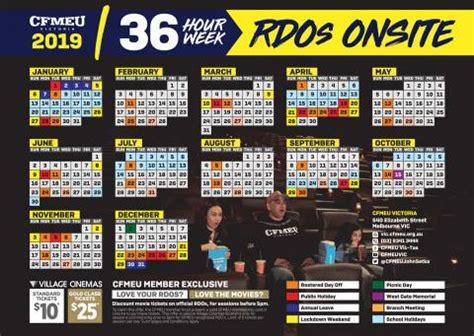 cfmeu rdo calendar nsw lotto