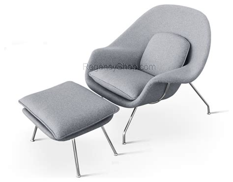 womb chair ottoman light grey modern armchairs and
