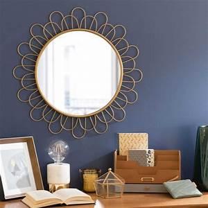 Spiegel Rund 60 Cm : runder spiegel aus metall d 60 cm flower cavendish maisons du monde ~ Whattoseeinmadrid.com Haus und Dekorationen