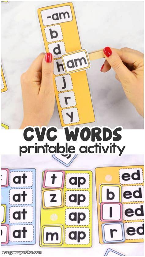 cvc words activity cvc word activities cvc words