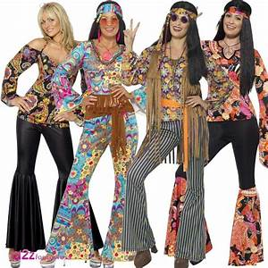 Womens 1960's 60's Hippie Hippy Adult Ladies Fancy Dress ...