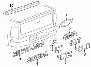 Chevrolet Silverado 3500 Hd Tailgate Molding  Box  Ton