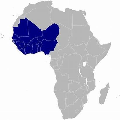 Africa Western Svg Cartina Un Muta Fisica