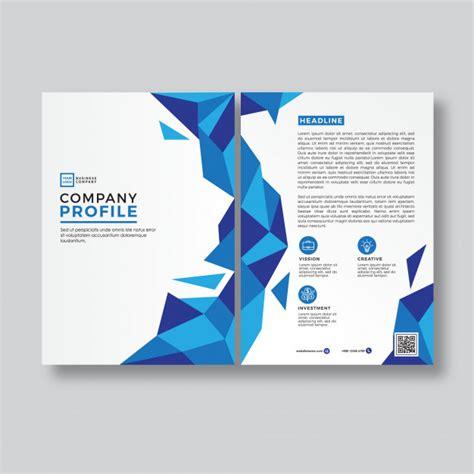 company profile cover page design template blue abstract style company profile cover template vector
