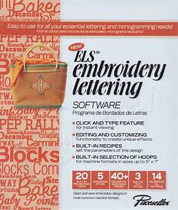 Brother els embroidery lettering software for Embroidery lettering software