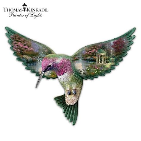 thomas kinkade quot garden of prayer quot hummingbird sculpture